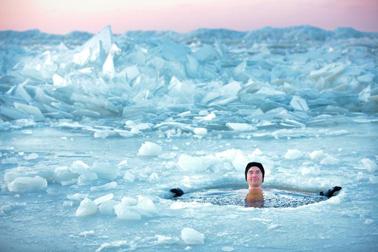 Bain de glace - Lettonie