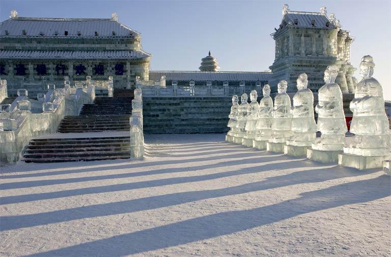 Sculptures sur glace - Harbin