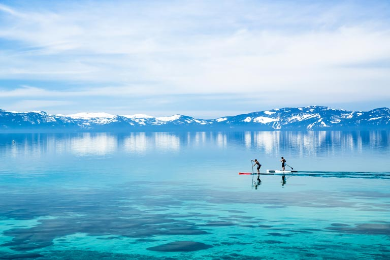 Stand-up paddle - Lac Tahoe