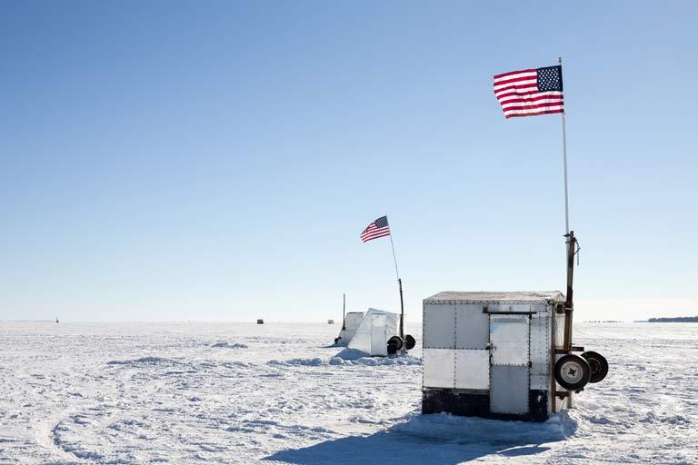 Pêche sur glace aux USA