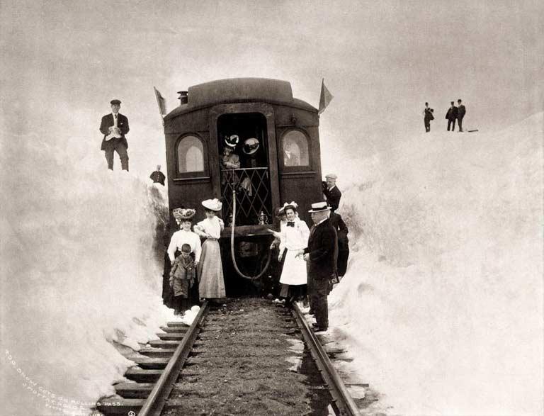 Train au Col Rollins - 1906