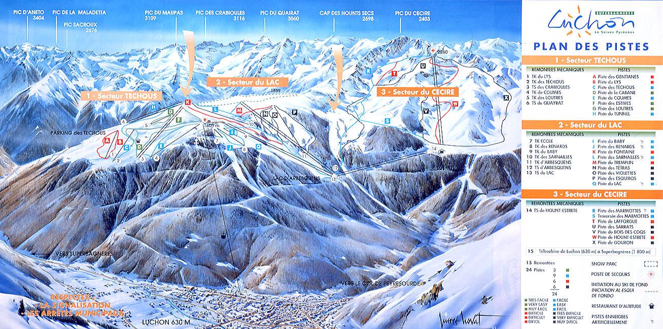 Plan chalets guzet neige webcam